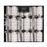 "Silver Snowflake 8.5"" Mini Christmas Crackers (Pack of 6)"