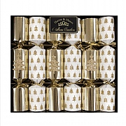 "Gold Tree 8.5"" Mini Christmas Crackers (Pack of 6)"