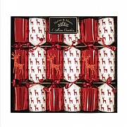 "Red Reindeer 8.5"" Mini Christmas Crackers (Pack of 6)"