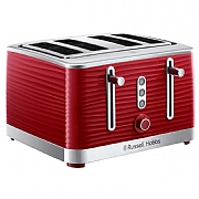 Russell Hobbs Inspire 4-Slice Toaster - Red