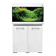 AquaVogue 135 Aquarium & Cabinet - White Gloss