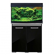 AquaVogue 135 Aquarium & Cabinet - Black Gloss