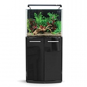 AquaNano 60 Bow Front Aquarium & Cabinet - Black Gloss