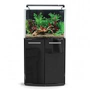 AquaNano 80 Bow Front Aquarium & Cabinet - Black Gloss