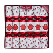 "Robin Reed Racing Glitter Robins 13"" Christmas Crackers (Pack of 6)"