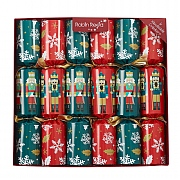 "Robin Reed Racing Nutcracker 13"" Christmas Crackers (Pack of 6)"
