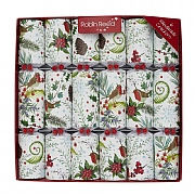 "Robin Reed Festive Foliage 12"" Christmas Crackers (Pack of 6)"