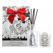 Wax Lyrical Festive Treats Reed Diffuser & Votive Candle Gift Bag