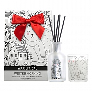 Wax Lyrical Winter Morning Reed Diffuser & Votive Candle Gift Bag