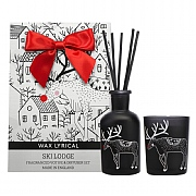 Wax Lyrical Ski Lodge Reed Diffuser & Votive Candle Gift Bag