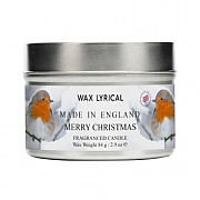 Wax Lyrical Merry Christmas Wax Filled Tin