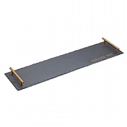 Artesà Slate Serving Platter with Brass Finish Handles