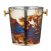 BarCraft Mercury Fire Glass Ice Bucket