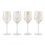 Mikasa Cheers Metallic Gold Set of 4 Wine Glasses (14oz)