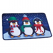 Frosty Penguins Washable Mat