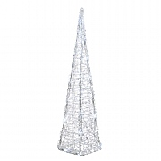 Lumineo 120cm Cool White LED Acrylic Pyramid (80 LEDs)