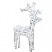 Lumineo 60cm Cool White LED Acrylic Reindeer (50 LEDs)
