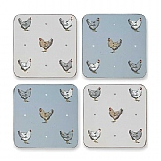 Cooksmart Farmers Kitchen Coasters - Set Of 4