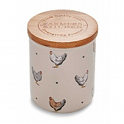 Cooksmart Farmers Kitchen Ceramic Tea Canister - Cream