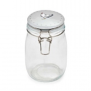 Cooksmart Farmers Kitchen 1L Glass Storage Jar