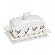 Cooksmart Farmers Kitchen Covered Butter Dish