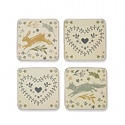Cooksmart Woodland Coasters - Set Of 4