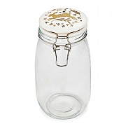 Cooksmart Woodland 1.5L Glass Storage Jar