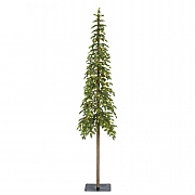 6ft Pre-Lit Alpine Fir Artificial Christmas Tree