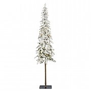 6ft Pre-Lit Snowy Alpine Fir Artificial Christmas Tree