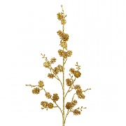 Gold Sparkle Pine Cone Spray 75cm