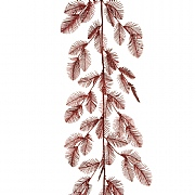 Burgundy Feather Fern Garland 150cm