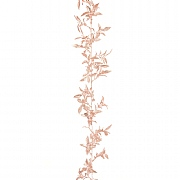 Gold Sparkle Mini Leaf Garland 180cm