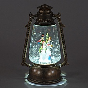 Snowman LED Water Filled Miners Lamp