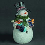26cm LED Snowman with Stocking & Gifts (Battery Operated)