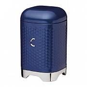 KitchenCraft Lovello Geometric Textured Steel Coffee Canister - Midnight Navy