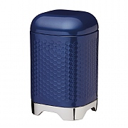 KitchenCraft Lovello Geometric Textured Steel Storage Canister - Midnight Navy