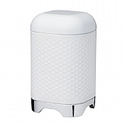 KitchenCraft Lovello Geometric Textured Storage Canister - Ice White
