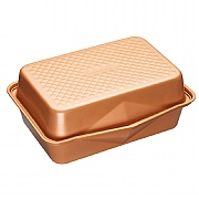 MasterClass Smart Ceramic Heavy-Duty Stackable Roasting Pan & Lid 42.5 x 31.5 cm