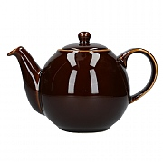 London Pottery Globe 2 Cup Teapot - Rockingham Brown