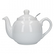 London Pottery Farmhouse 2 Cup Teapot - White