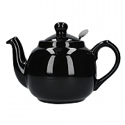 London Pottery Farmhouse 2 Cup Teapot Gloss - Black