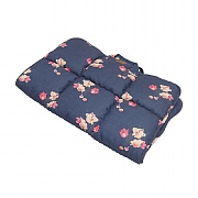 Joules Navy Floral Travel Pet Bed