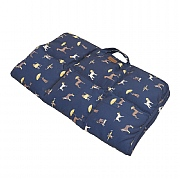 Joules Costal Dog Print Travel Pet Bed