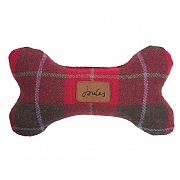 Joules Plush Red Tweed Print Toy