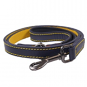 Joules Navy Leather Pet Lead