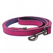 Joules Pink Leather Pet Lead