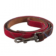 Joules Red Tweed Leather Pet Lead