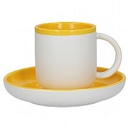 La Cafetiere Barcelona 300ml Coffee Cup & Saucer - Mustard