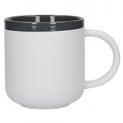 La Cafetiere Barcelona 480ml Latte Mug - Cool Grey