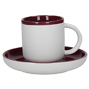 La Cafetiere Barcelona 300ml Coffee Cup & Saucer - Plum